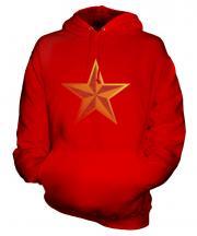 Faded Communist Star Unisex Adult Hoodie