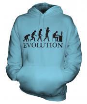 Computer Geek Evolution Unisex Adult Hoodie