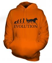Horse And Cart Racing Evolution Unisex Adult Hoodie