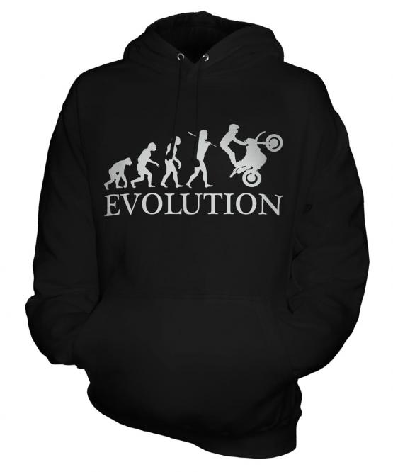 Motorbike Stunt Rider Evolution Unisex Adult Hoodie