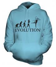 Rhythmic Gymnastics Ribbon Evolution Unisex Adult Hoodie