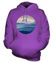 Foggy Mountains Fashion Print Unisex Adult Hoodie