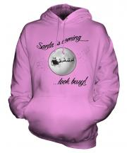 Santa Is Coming Unisex Adult Hoodie